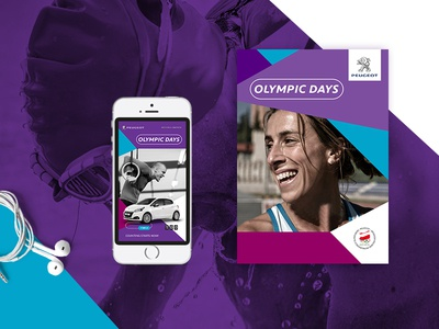 Peugeot olympic days minimal geometry atl btl web peugeot promo car olumpic visual key