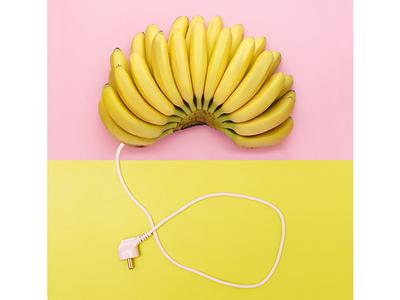 electric sketch geometry color half illustration digital banana collage