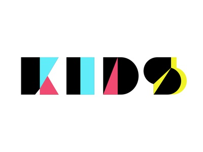 Kids logo fashion kids design graphic minimal geometry logo branding