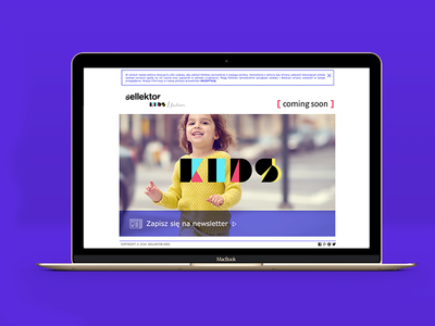 kids web design digital web color trend e-commerce platform website logo fashion kids