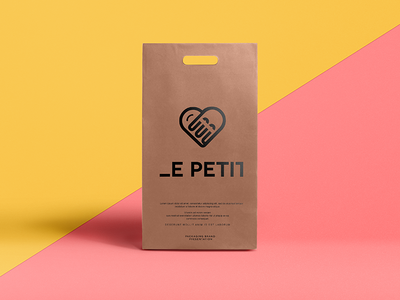 le petit restaurant pink pattern minimal logo identity geometry food corporate coffee branding brand