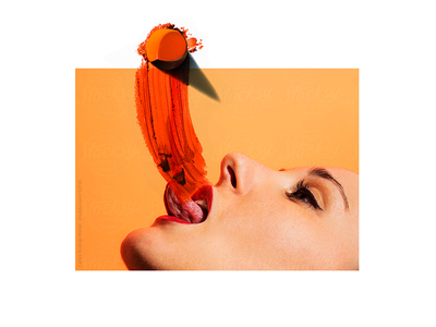 tounge fashion editorial ginger body beauty makeup women lipstick