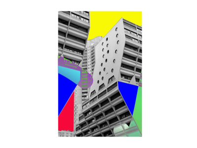 exploring brutalism geometry poster street brutalism visual series art collage colors paris architecture