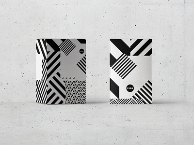 PURO hotels puro hotels packaging box wrapping white black minimal geometry paper