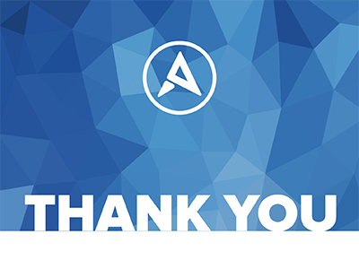 Arcweb thank you card