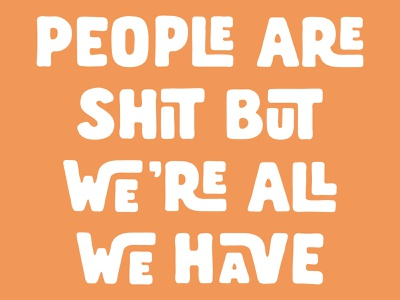 People motto people typography graphic design