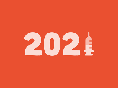 2021 new year 2021 vaccine covid-19 typography illustration graphic design