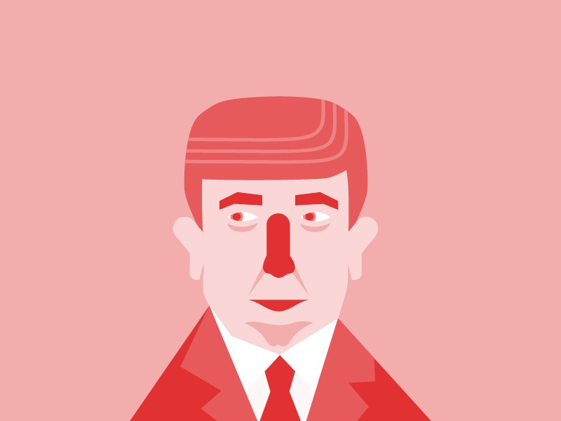 President Trump politics president donald trump illustration graphic design