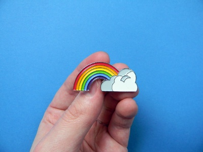 Somewhere albert kennedy trust enamel pin lgbt rainbow illustration graphic design