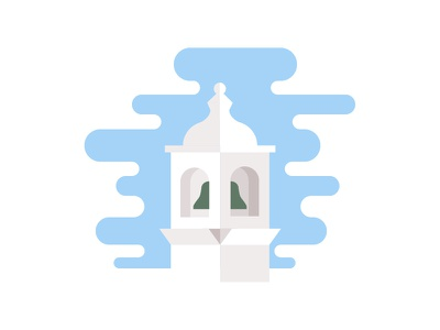 Bell Tower holiday church portugal lagos bell tower architecture geometry illustration graphic design