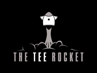 The Tee Rocket logo tee tshirt shirt shirts rocket vector dozo
