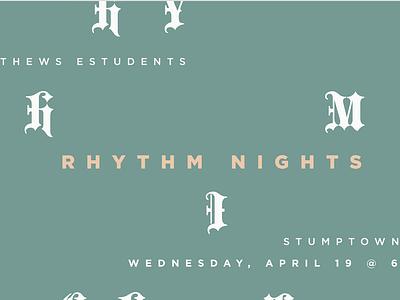 Youth Rhythm Night elevation ministry youth students