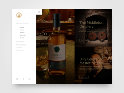 Whiskey Navigation Concept hamburger menu website branding ux ui alcohol premium responsive web concept navigation whiskey
