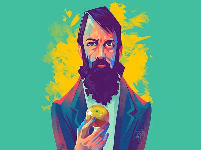 Self Portrait with Apple