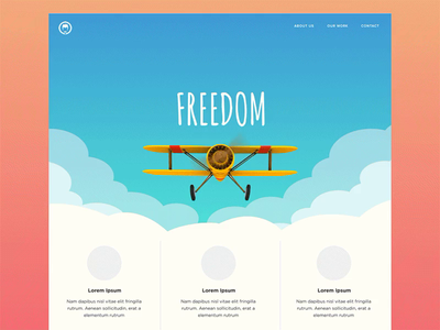 Landing Page Concept  3 by Minh Pham