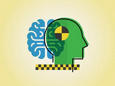 Smarter Crash Test Dummy Illustrations debut illustrator web editorial graphic design illustration