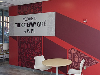 Gateway Café Wall Design debut icons design graphic icon illustration environmental