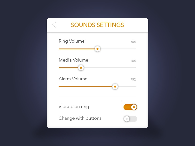 Settings - Daily UI Challenge: 007 debut illustrator mobile app illustration challenge design dailyui settings