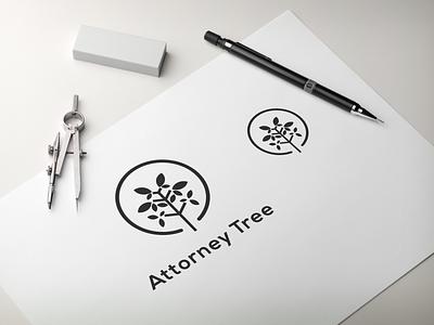 Attorney tree logo design dribble ux app vector lettering illustration design branding logo motion graphics graphic design 3d animation ui attorney tree logo design