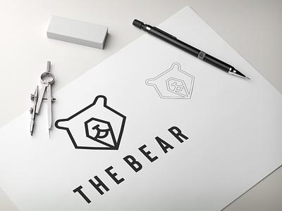 The bear logo bear typography ux vector app design lettering illustration branding logo animation motion graphics graphic design 3d ui the bear logo