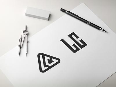 Letter L C logo design lettering logo typography ux vector design app illustration lettering branding logo ui motion graphics graphic design 3d animation letter l c logo design