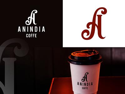 Anindia coffe logo design ui typography ux app design lettering illustration branding logo for sale vector logo coffe anindia coffe logo design