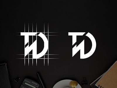 Letter T D logo design logo design typography ux vector app design lettering illustration branding logo motion graphics graphic design 3d animation ui letter t d logo design