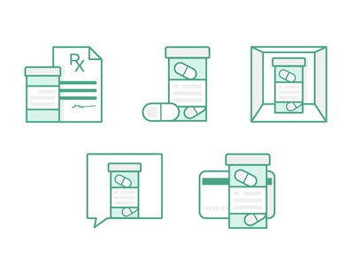 Rx Icons symbols website illustration icons rx
