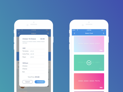 Checkout User Interface daily ui gradient 2d ui user interface