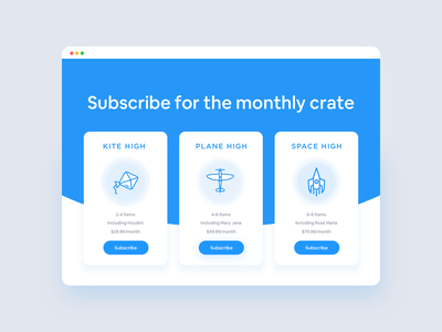 Monthly Weed Subscription Pricing Plan webdesign cannabis weed flat ui pricing plan pricing ui user interface sketch