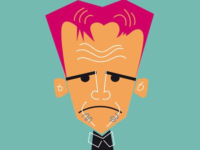 Gordon Ramsey illustration man person head gordon ramsey chef charicature comic cartoon design
