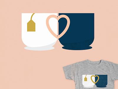 Vote for my Tea-Shirt! threadless shirt vote vector love wedding hug cute tea cup heart flat
