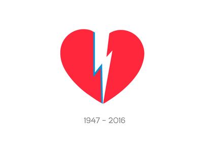 Bowie <3 heart bolt rip tribute david bowie