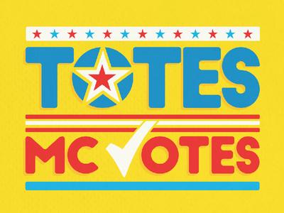 Totes McVotes threadless election funny illustration shirt t-shirt politics