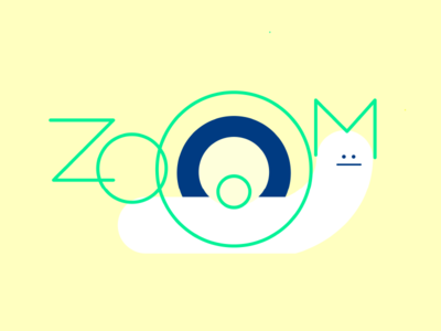 Pick up the pace, slowpoke. shapes words text typography blog zoom snail