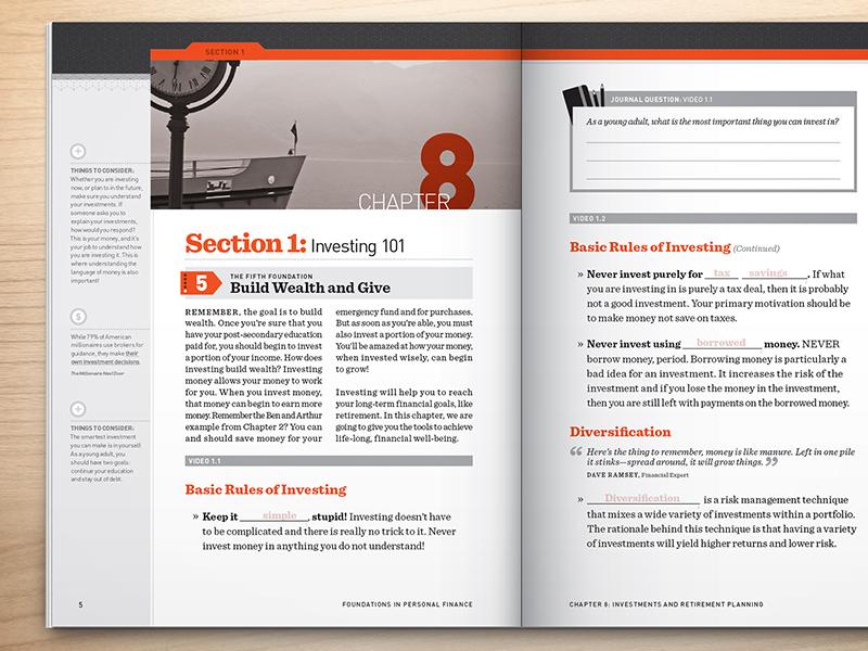 Workbook Spread workbook 2c din high school print orange gray