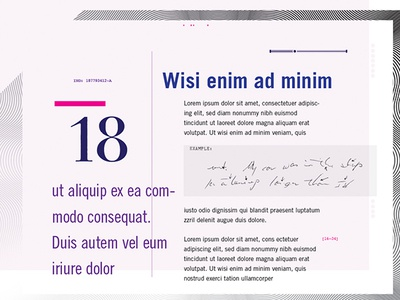 Deconstructed Grid illustrator cc purple magenta pink lavender layout grid deconstructed typography