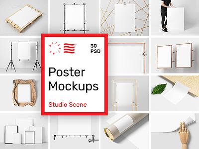 Mr.Mockup - Poster Mockups dowload illustration website frame stationery identity branding logo typography print psd mockup