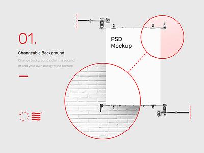 Mr.Mockup - 30 Poster Mockups dowload illustration website frame stationery identity branding logo typography print psd mockup