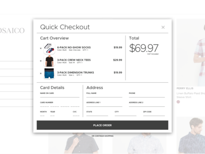 Quick Checkout for E-Commerce Website
