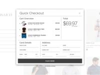 Quick Checkout for E-Commerce Website