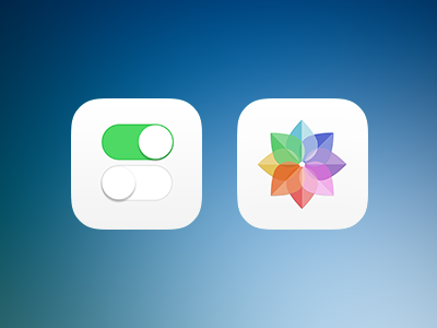 iOS 7 icons (wip) icons ios ios7 apple settings picture sharp homescreen flat