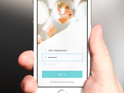 Login (wip) login ios7 app mobile active pale mockup photo outline
