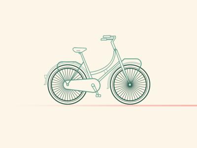 Dutch bike (illustration)