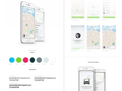 Freeride App (Study) styleguide colors animation car driver app ios casestudy