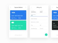 Credit card ui screens