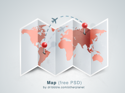 Map (FPEW) design map pin loctaion world free psd icon fpew