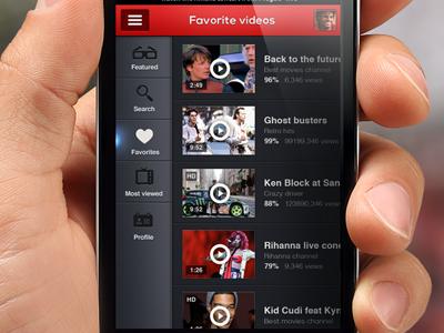 Youtube app (wip) app wip ui ux apple iphone youtube player menu icons hd videos prev developer