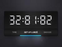 Clock (wdgt) ui ux exeperiment clocks design app