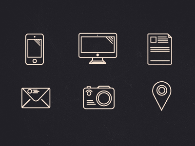 Outline icons (set) icon icons outline glyphs mono psd free share it omg
